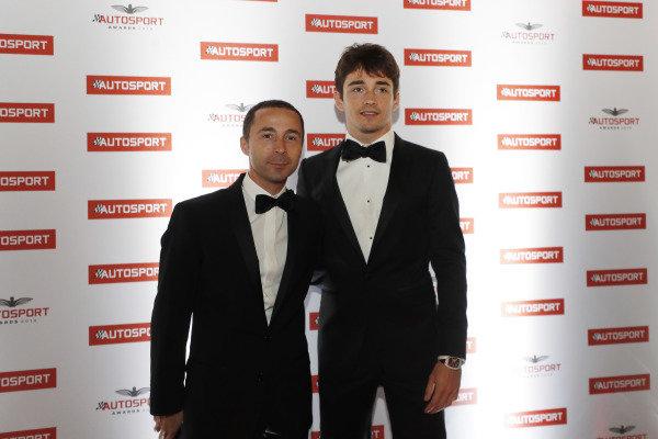 Nicolas FIA Pesident Jean Todt with Ferrari F1 driver Charles Leclerc