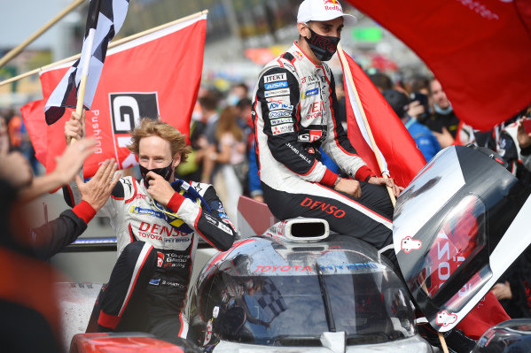 Winners #8 Toyota Gazoo Racing Toyota TS050: Sébastien Buemi, Kazuki Nakajima, Brendon Hartley