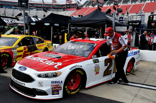 Monster Energy NASCAR Cup Series Bass Pro Shops NRA Night Race Bristol Motor Speedway, Bristol, TN USA Friday 18 August 2017 Ryan Blaney, Wood Brothers Racing, Motorcraft/Quick Lane Tire & Auto Center Ford Fusion World Copyright: Rusty Jarrett LAT Images