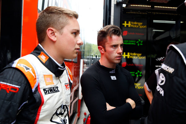 NASCAR XFINITY Series Johnsonville 180 Road America, Elkhart Lake, WI USA Saturday 26 August 2017 James Davison, Hollinger Motor Sports Toyota Camry and Christopher Bell, Toyota Toyota Camry World Copyright: Russell LaBounty LAT Images