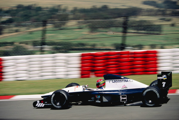 1992 South African Grand Prix.Kyalami, South Africa. 28/2-1/3 1992.Eric van de Poele (Brabham BT60B Judd).Ref-92 SA 22.World Copyright - LAT Photographic