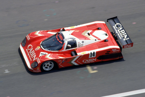 1989 Le Mans 24 Hours Le Mans, France. 10th - 11th June. Derek Bell, Tiff Needell and James Weaver in the Richard Lloyd Racing Porsche 962 GT1. Action. World Copyright: LAT Photographic ref: 35mm Transparency. 50mb Scan