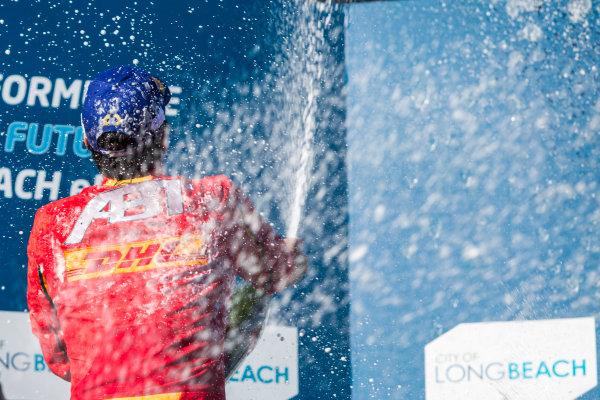 2015/2016 FIA Formula E Championship. Long Beach ePrix, Long Beach, California, United States of America. Sunday 3 April 2016. Lucas Di Grassi (BRA), ABT Audi Sport FE01. Photo: Zak Mauger/LAT/Formula E ref: Digital Image _79P6892