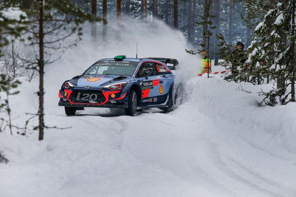 2018 FIA World Rally Championship, Round 02, Rally Sweden 2018, February 15-18, 2018. Hayden Paddon, Hyundai, Action Worldwide Copyright: McKlein/LAT