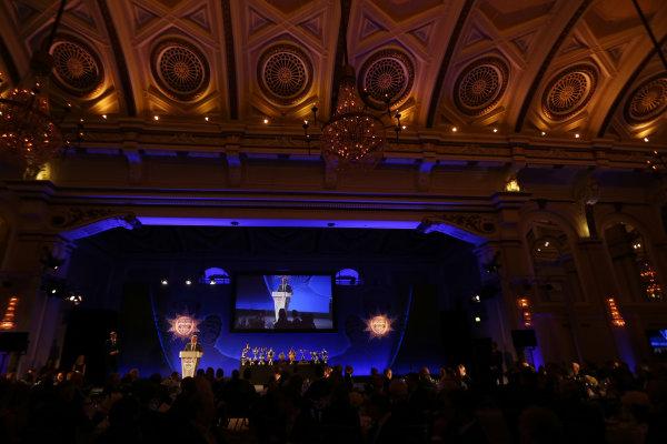 2014 BRDC Annual Awards The Grand Connaught Rooms, London, UK Monday 8 December 2014. Derek Warwick on stage. World Copyright: Ebrey/LAT Photographic. ref: Digital Image Warwick-08