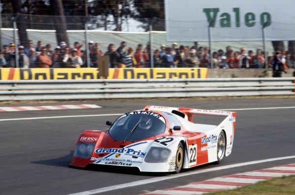 Le Mans, France. 18-19 June 1983.Derek Warwick/Patrick Gaillard/Frank Jelinski (Kremer-Porsche CK5/83), retired, action. World Copyright: LAT Photographic.Ref:  83LM08