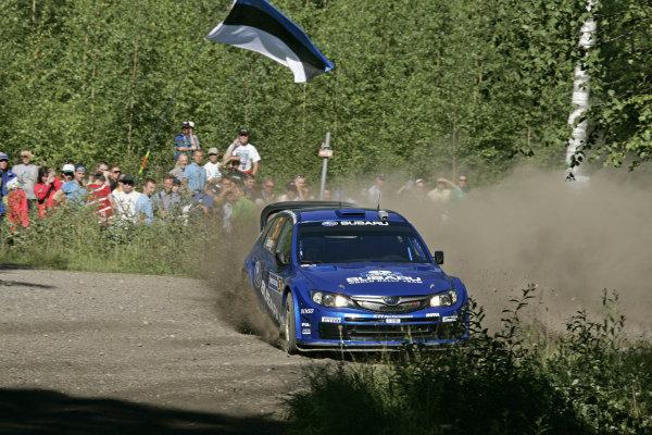 Round 09Neste Oli Rally Finland 200831/7-3/8  2008Petter Solberg, Subaru WRC, Action