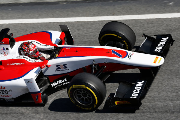 2016 GP2 Series Test 1. Circuit de Catalunya, Barcelona, Spain. Friday 11 March 2016. Nobuharu Matsushita (JPN, ART Grand Prix)  World Copyright: Sam Bloxham/LAT Photographic. ref: Digital Image _R6T9210