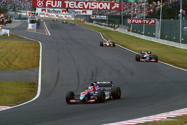 Suzuka, Japan. 22nd - 24th October 1993.Rubens Barrichello (Jordan 931-Hart), 5th position, action. World Copyright: LAT Photographic.Ref: Colour Transparency.