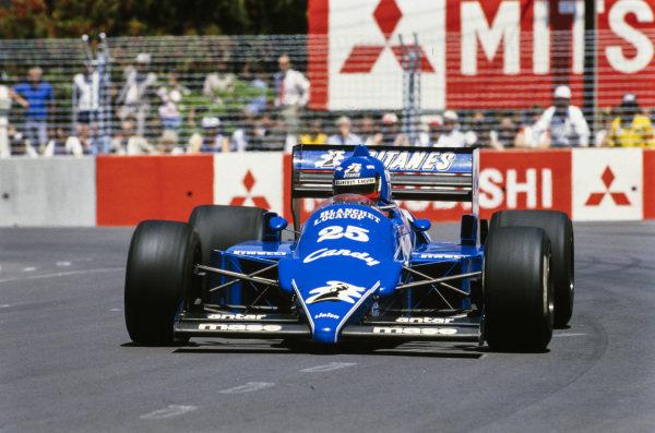 Philippe Streiff, Ligier JS25 Renault.