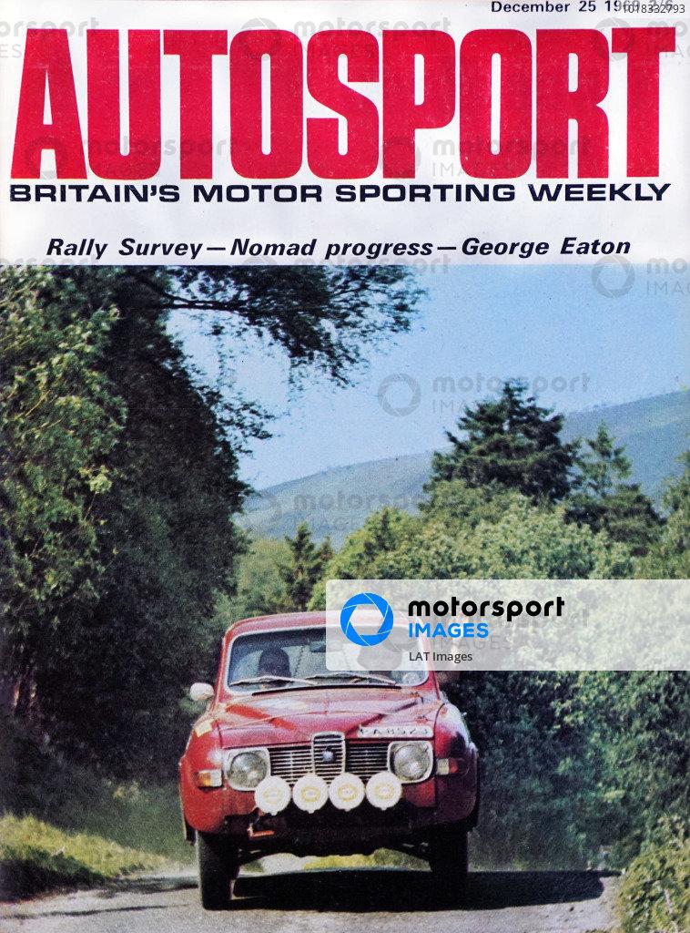 Cover of Autosport magazine, 25th December 1969