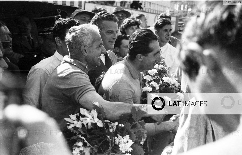 1953 Belgian Grand Prix.Spa-Francorchamps, Belgium. 19-21 June 1953.Alberto Ascari (Ferrari 500) 1st position.Ref-53/57 #30A.World Copyright - LAT Photographic