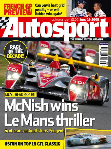 Cover of Autosport magazine, 19th June 2008