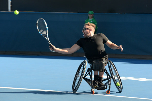 Dylan Alcott (AUS) Wheelchair Tennis Player at Formula One World Championship, Rd1, Australian Grand Prix, Preparations, Albert Park, Melbourne, Australia, Thursday 23 March 2017.