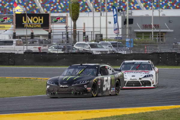 #54: Ty Gibbs, Joe Gibbs Racing, Toyota Supra Monster Energy, #20: Harrison Burton, Joe Gibbs Racing, Toyota Supra DEX Imaging