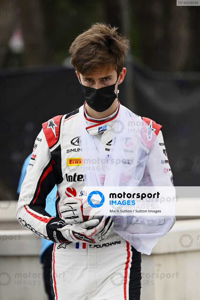 Theo Pourchaire (FRA, ART Grand Prix) after retiring from the race