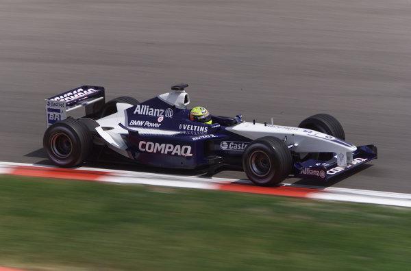 2002 Spanish Grand Prix.Catalunya, Barcelona, Spain. 26-28 April 2002.Michael Schumacher, Ferrari F2002, action.World Copyright - LAT Photographicref: digital image only