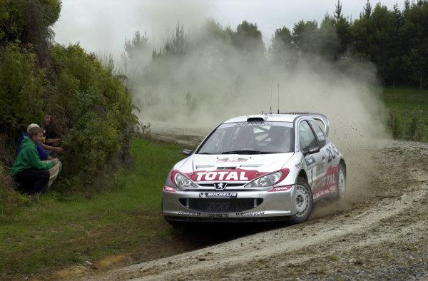 2001 World Rally Championship.Rally of New Zealand. September 20-23, 2001.Auckland, New Zealand.Marcus Gronholm during shakedown.Photo: Ralph Hardwick/LAT