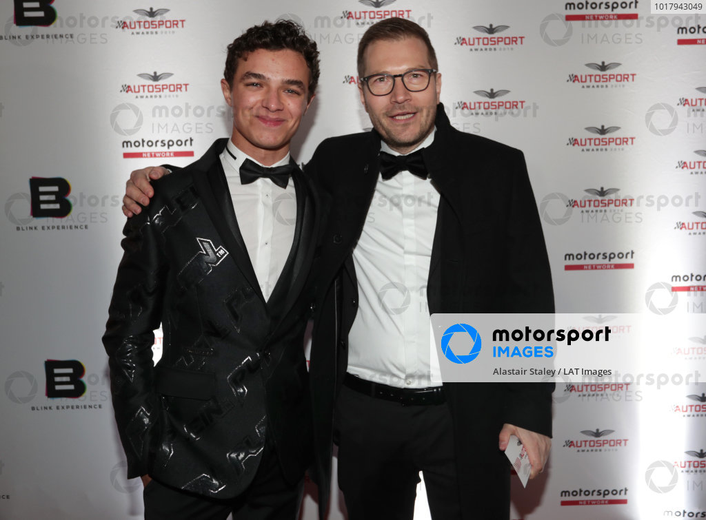 Lando Norris and Andreas Seidl, Team Principal, McLaren