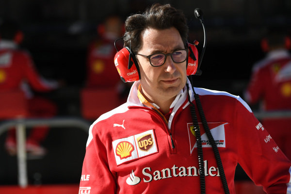 Mattia Binotto (ITA) Ferrari Chief Technical Officer at Formula One World Championship, Rd18, United States Grand Prix, Practice, Circuit of the Americas, Austin, Texas, USA, Friday 21 October 2016.