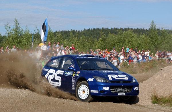 2002 World Rally Championship.Neste Rally Finland, Jyvaskyla Finland, August 8-11th.Markko Martin on stage 1.Photo: Ralph Hardwick/LAT