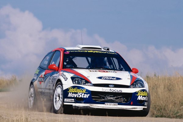 2002 World Rally Championship.ADAC Rallye Deutschland, Trier, Germany. August 22nd - 25th 2002.Colin McRae/Nicky Grist (Ford Focus WRC 02), action.Photo: McKlein/LAT Photographicref: 35mm Image A11