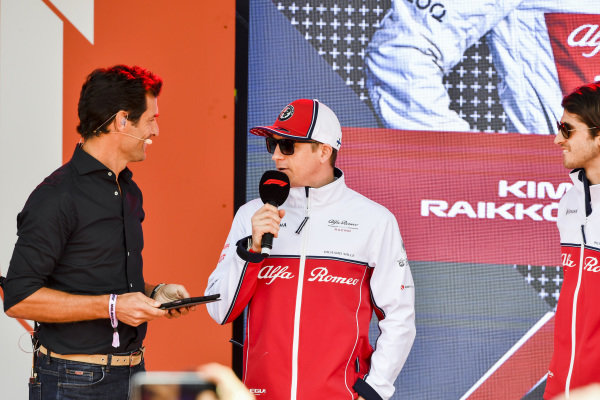 Mark Webber and Kimi Raikkonen, Alfa Romeo Racing at the Federation Square event.