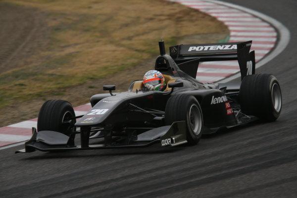 2014 Super Formula Test   Suzuka, Japan. 1st - 2nd March 2014.  Kumar Ram Narain Karthikeyan ( #20 TEAM IMPUL ) action. World Copyright: Yasushi Ishihara/LAT Photographic. Ref: 2014SF_SUZUKA_TEST_010