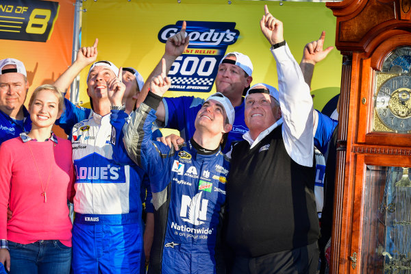 28-30 October, 2016, Martinsville, Virginia USA Jeff Gordon and Rick Hendrick celebrate in victory lane  ?2016, Logan Whitton  LAT Photo USA