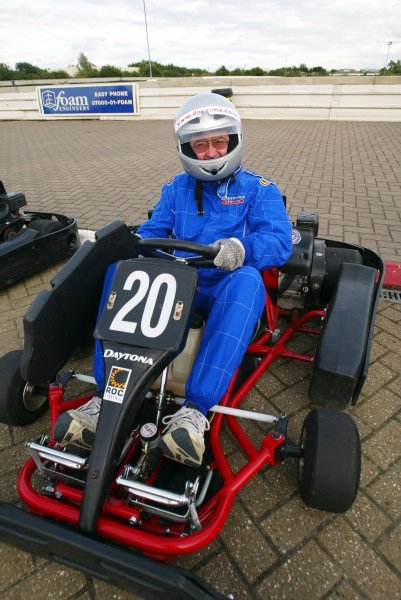 David (Toddy) McIntosh (GBR) Photographer finished fourteenth.  Sutton Motorsport Images Annual Karting Grand Prix; Daytona International Raceway, Milton Keynes, England, 24 July 2003.DIGITAL IMAGE