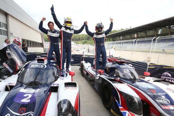 2017  European Le Mans Series, Red Bull Ring, 21st-23rd July 2017, #2 John Falb (USA) / Sean Rayhall (USA) - UNITED AUTOSPORTS - Ligier JS P3 ? Nissan and #32  William Owen (USA) / Hugo de Sadeleer (CHE) / Filipe Albuquerque (PRT) - UNITED AUTOSPORTS - Ligier JSP217 - Gibson World Copyright. JEP/LAT Images