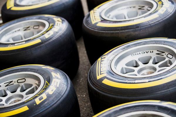 2017 FIA Formula 2 Round 5. Red Bull Ring, Spielberg, Austria. Thursday 6 July 2017. Pirelli tyres. Photo: Zak Mauger/FIA Formula 2. ref: Digital Image _56I0275