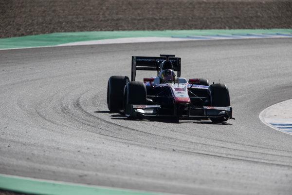2017 FIA Formula 2 Round 10. Circuito de Jerez, Jerez, Spain. Friday 6 October 2017. Nabil Jeffri (MAS, Trident).  Photo: Andrew Ferraro/FIA Formula 2. ref: Digital Image _FER9945