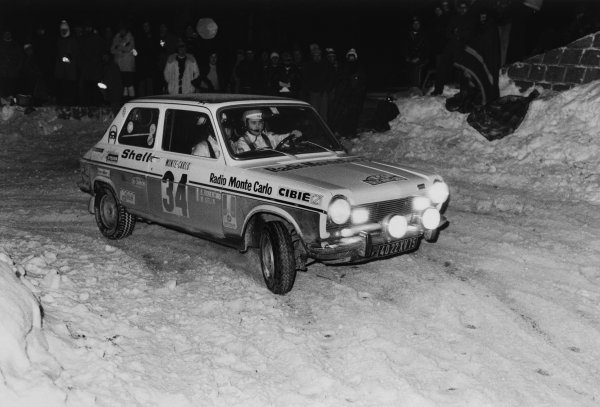 Monte Carlo, Monaco. 21st - 29th January 1972.Bernard / Fiorentino (Simca 1100), action.World Copyright: LAT PhotographicRef:  L72/132/23A