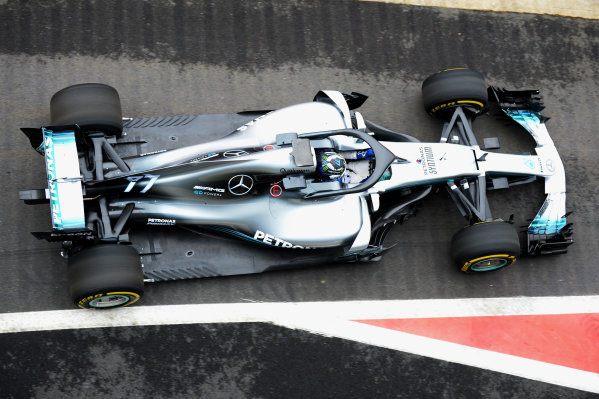 Mercedes-AMG F1 W09 EQ Power+ Launch and First Run Silverstone, England, 22 February 2018. Valtteri Bottas (FIN) Mercedes-AMG F1 W09 EQ Power. World Copyright: Simon Galloway/Sutton Images/LAT Images Photo ref: SUT_Mercedes_AMG_F_1567656