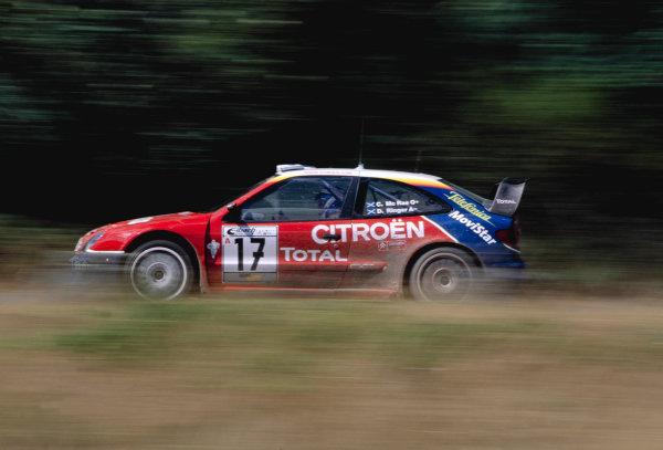 2003 World Rally ChampionshipRally Deutschland, Germany. 25th - 27th July 2003.Colin McRae / Derek Ringer (Citroen Xsara), action.World Copyright: McKlein/LAT Photographicref: 35mm Image A06
