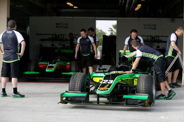 2015 GP2 Test 1 Yas Marina Circuit, Abu Dhabi, United Arab Emirates Wednesday 10 March 2015 The Status GP team Photo: Jed Leicester/GP2 Series Media Service ref: Digital Image _JL14577