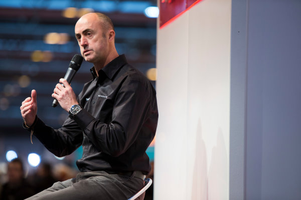 Autosport International Exhibition. National Exhibition Centre, Birmingham, UK. Saturday 10 January 2015. David Brabham on the Autosport stage. World Copyright: Zak Mauger/LAT Photographic. ref: Digital Image _L0U3601