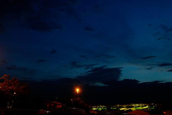 Sepang International Circuit, Sepang, Kuala Lumpur, Malaysia. Saturday 28 March 2015. Nighttime view over the circuit. World Copyright: Alastair Staley/LAT Photographic. ref: Digital Image _79P7360