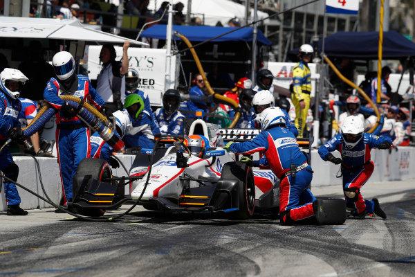 2017 Verizon IndyCar Series Toyota Grand Prix of Long Beach Streets of Long Beach, CA USA Sunday 9 April 2017 Ed Jones, pit stop World Copyright: Michael L. Levitt LAT Images