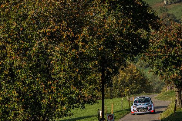 Thierry Neuville (BEL) / Nicolas Gilsoul (BEL) Hyundai i20 WRC. FIA World Rally Championship, Rd11, Rallye De France, Strasbourg, Alsace, France. Day Two, Saturday 4 October 2014.