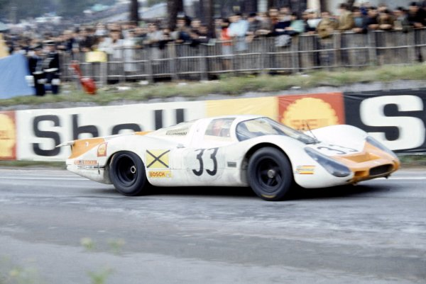 1968 Le Mans 24 hours. Le Mans, France. 28-29 September 1968. Rolf Stommelen/Jochen Neerpasch (Porsche 908/8), 3rd position. World Copyright: LAT Photographic Ref: 68LM07