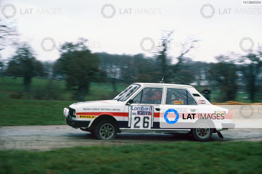 Lombard RAC Rally, Great Britain. 19-23 November 1983.John Haugland/Jan-Olof Bohlin (Skoda 120LS), 26th position, action. World Copyright: LAT Photographic.Ref:  83WRC RAC 01