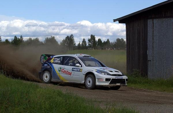 Markko Martin (EST) & co-driver Michael Park (GBR), Ford Focus RS WRC 03, won the 2003 Rally Finland.