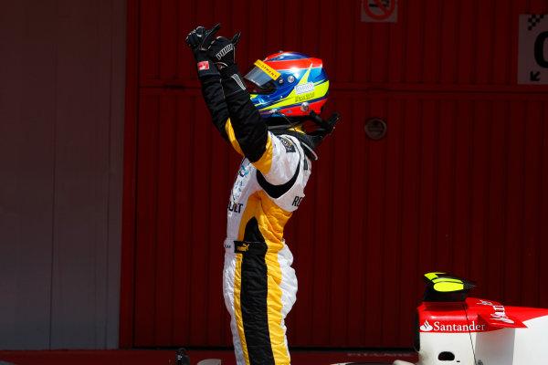 Barcelona, Spain.Sunday Race. 10th May 2009.Romain Grosjean (FRA, Barwa International Campos Team). World Copyright: Glenn Dubar / GP2 Series Media Service.Ref: _O9T8216 jpg