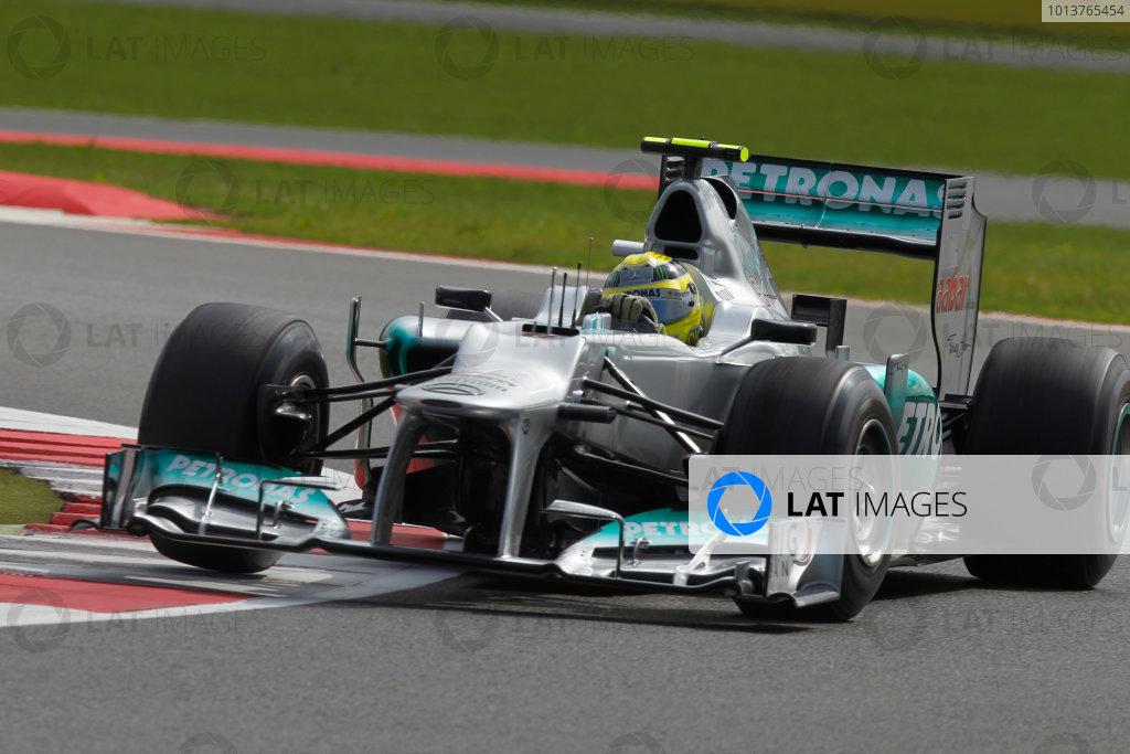 Silverstone, Northamptonshire, England7th July 2012Nico Rosberg, Mercedes F1 W03. World Copyright:Andrew Ferraro/LAT Photographicref: Digital Image _Q0C3796