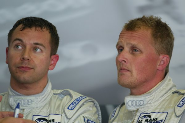 2004 Le Mans Endurance Series Nurburgring, Germany. 4th July 2004. Jamie Davies and Johnny Herbert, portrait. World Copyright: John Brooks/LAT Photographic ref: Digital Image Only