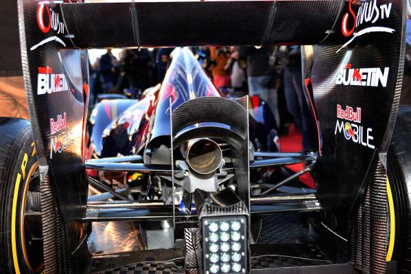 Scuderia Toro Rosso STR9 rear and exhaust detail. Scuderia Toro Rosso STR9 Launch, Jerez, Spain, Monday 27 January 2014.