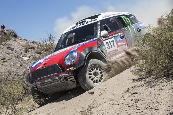 Boris Garafulic (CHL) / Gilles Picard (FRA) Mini X-Raid Team. Dakar Rally 2014, Rosario, Argentina, 5-18 January 2014.