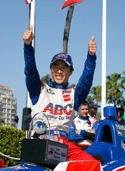 19-21 April 2013, Long Beach, California USA Race Winner Takuma Sato.(c)2013, Todd Davis LAT Photo USA